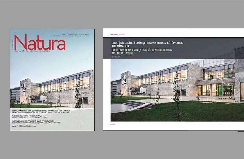 Ordu Üniversitesi Emin Çetinceviz Merkez Kütüphanesi Natura Dergisinde